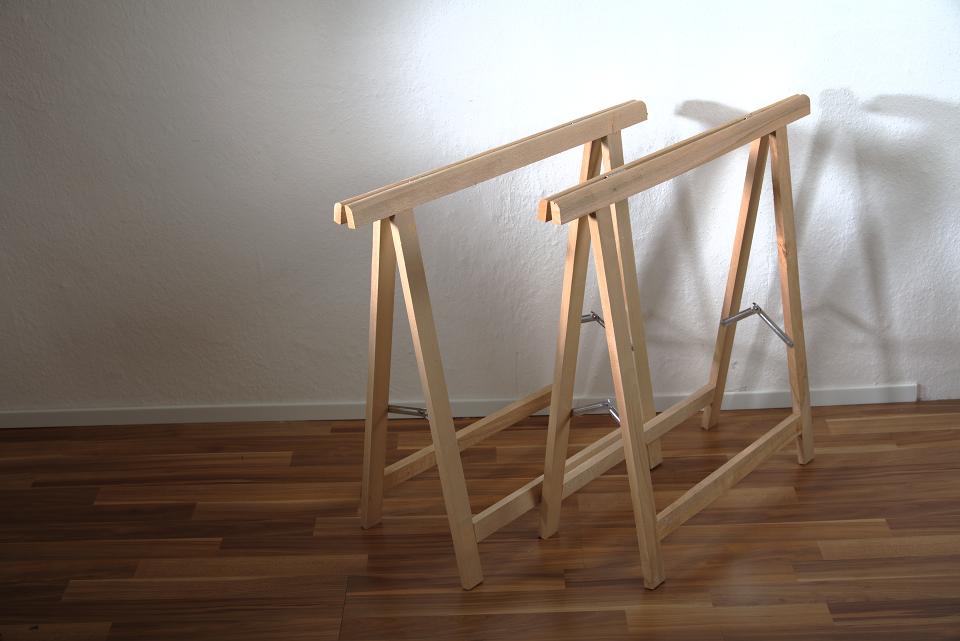 Schreibtischplatte glas  1 Paar Holz Klapp-Böcke aus Buchenholz - vielseitig verwendbar | eBay