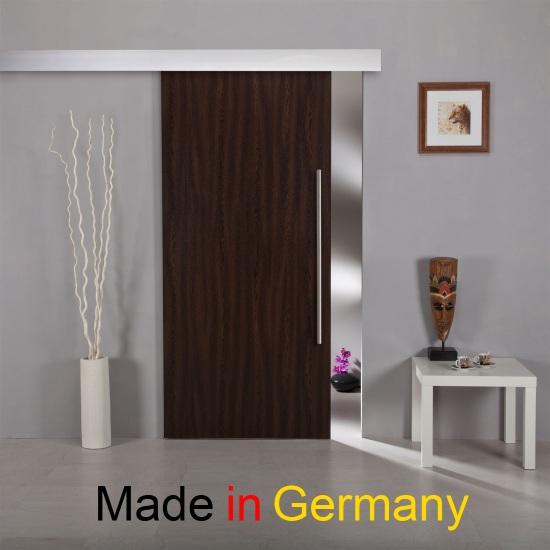 schiebet r aus holz hst01 mit alu60 schiebesystem und edelstahlgriff beidseitig ebay. Black Bedroom Furniture Sets. Home Design Ideas