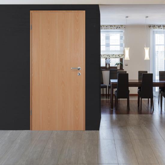 holzt r mit zarge schloss und bandh lsen dekor landbuche mit cpl oberfl che. Black Bedroom Furniture Sets. Home Design Ideas