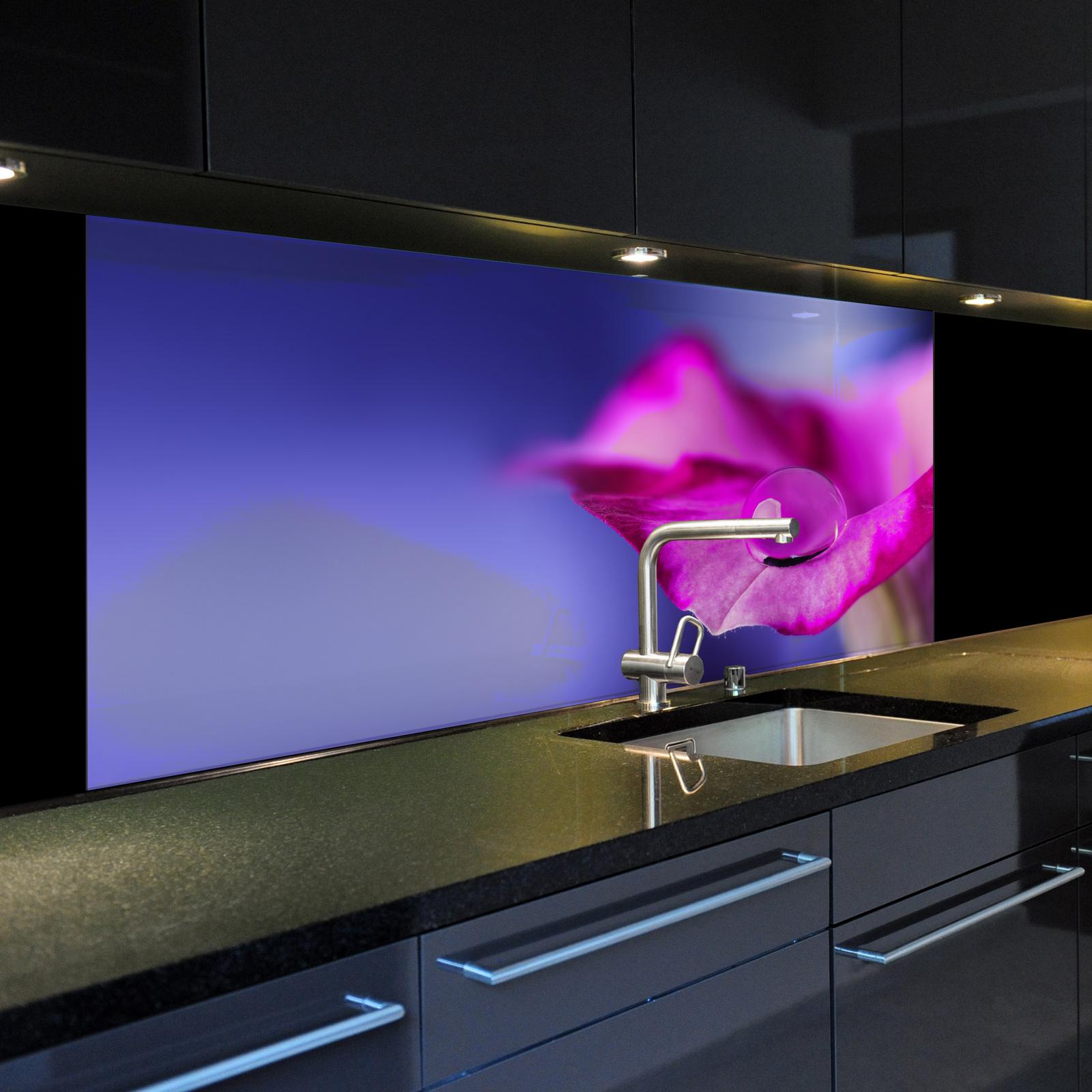 spritzschutzwand aus glas 1019 1 gb motiv regentropfen f r ihre k che oder bild ebay. Black Bedroom Furniture Sets. Home Design Ideas