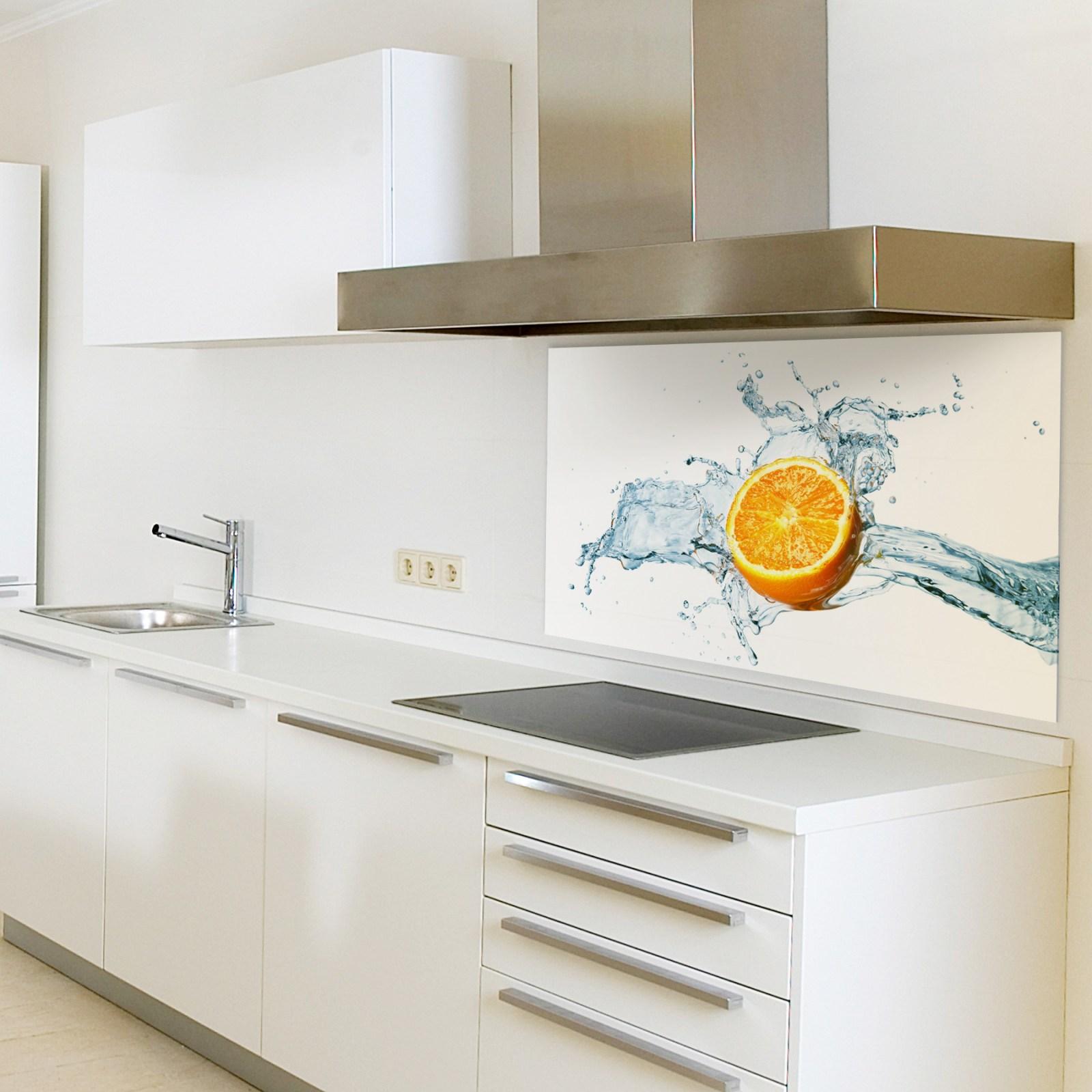 spritzschutzwand aus glas, motiv zitrone für ihre küche oder als ... - Glasbilder Für Küche