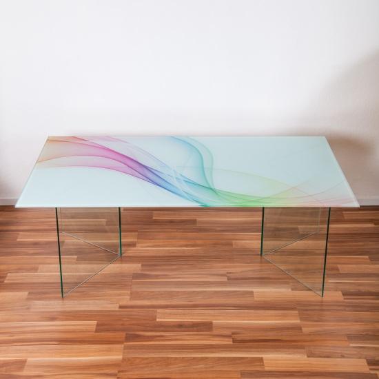 glascouchtisch digitaldruck swirly sicherheitsglas 8 mm. Black Bedroom Furniture Sets. Home Design Ideas