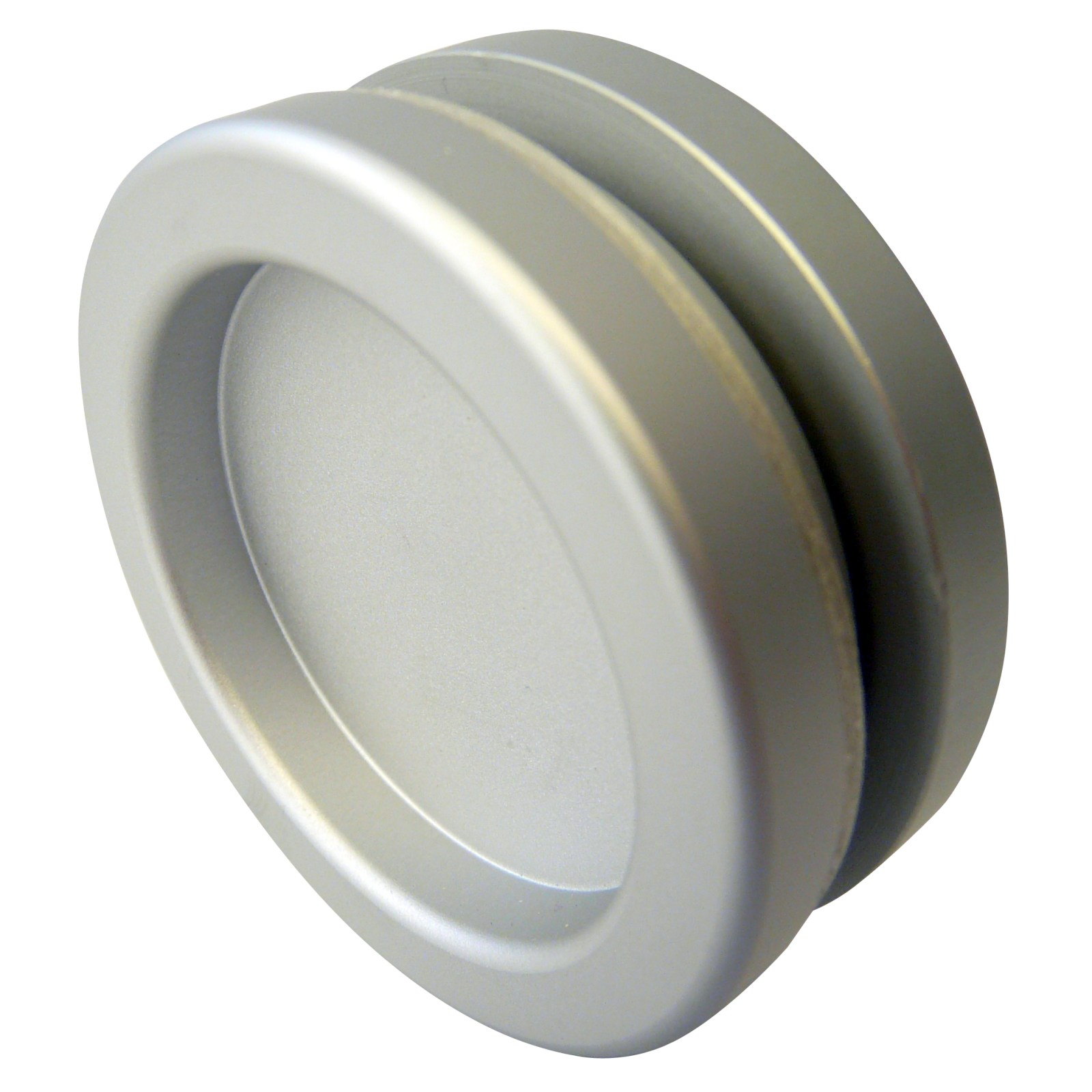 griffmuschel ch 203 aluminium rund f r glasschiebet r ebay. Black Bedroom Furniture Sets. Home Design Ideas
