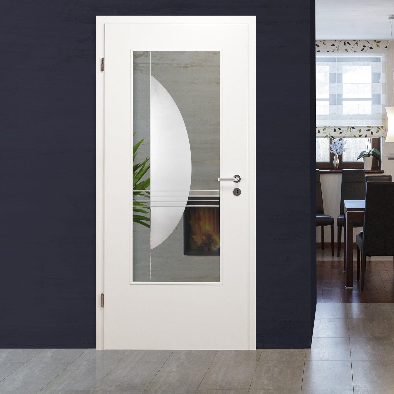 glaseinsatz f r holzt r klarglas mit kristallrillenschliff lar 975 f ebay. Black Bedroom Furniture Sets. Home Design Ideas