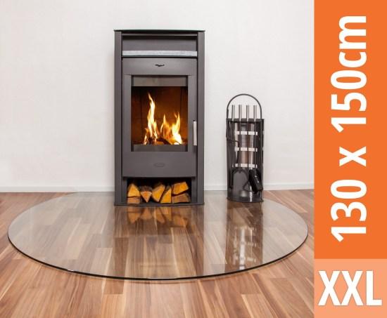 kamin bodenglasplatte xxl op2 1500 rundbogen klarglas 1300 x 1500 mm ebay. Black Bedroom Furniture Sets. Home Design Ideas