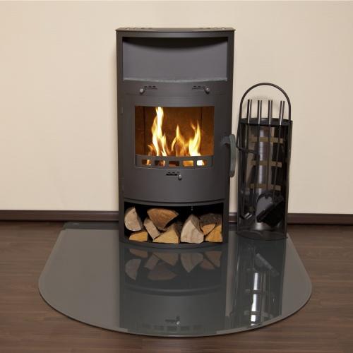 kamin bodenglasplatte opf1 rundbogen dunkelgraues sicherheitsglas mit facette ebay. Black Bedroom Furniture Sets. Home Design Ideas