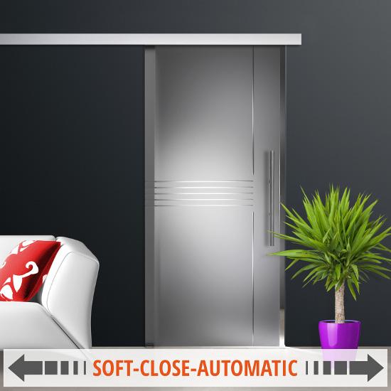 glasschiebet r satinato st685 soft close system ag50 griffstangen edelstahl ebay. Black Bedroom Furniture Sets. Home Design Ideas