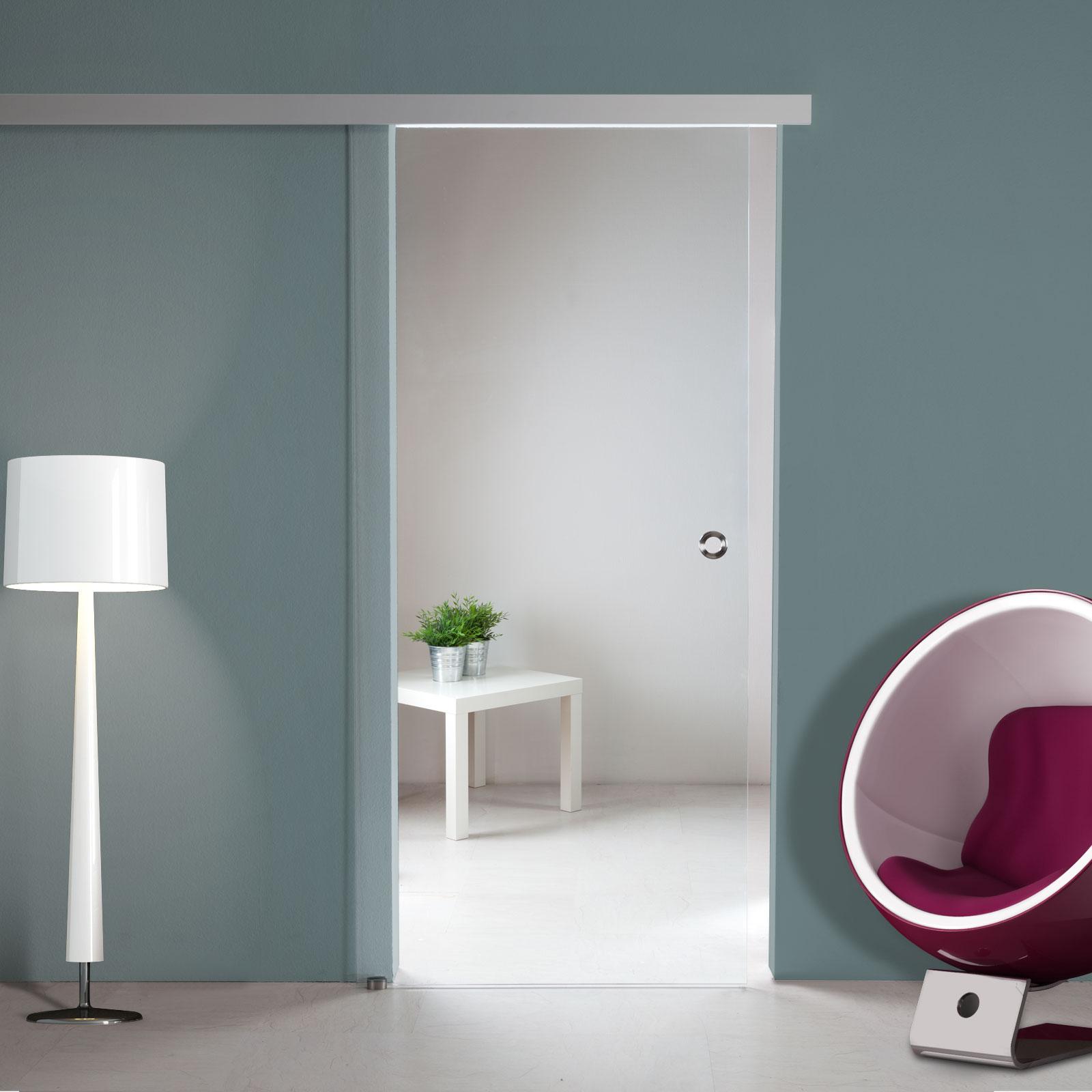 glasschiebet r st722 klarglas mit ag50 schiebesystem option soft close ebay. Black Bedroom Furniture Sets. Home Design Ideas