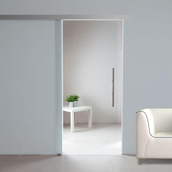 glasschiebet r sd707 ag50 klarglas und griffstange edelstahl ebay. Black Bedroom Furniture Sets. Home Design Ideas
