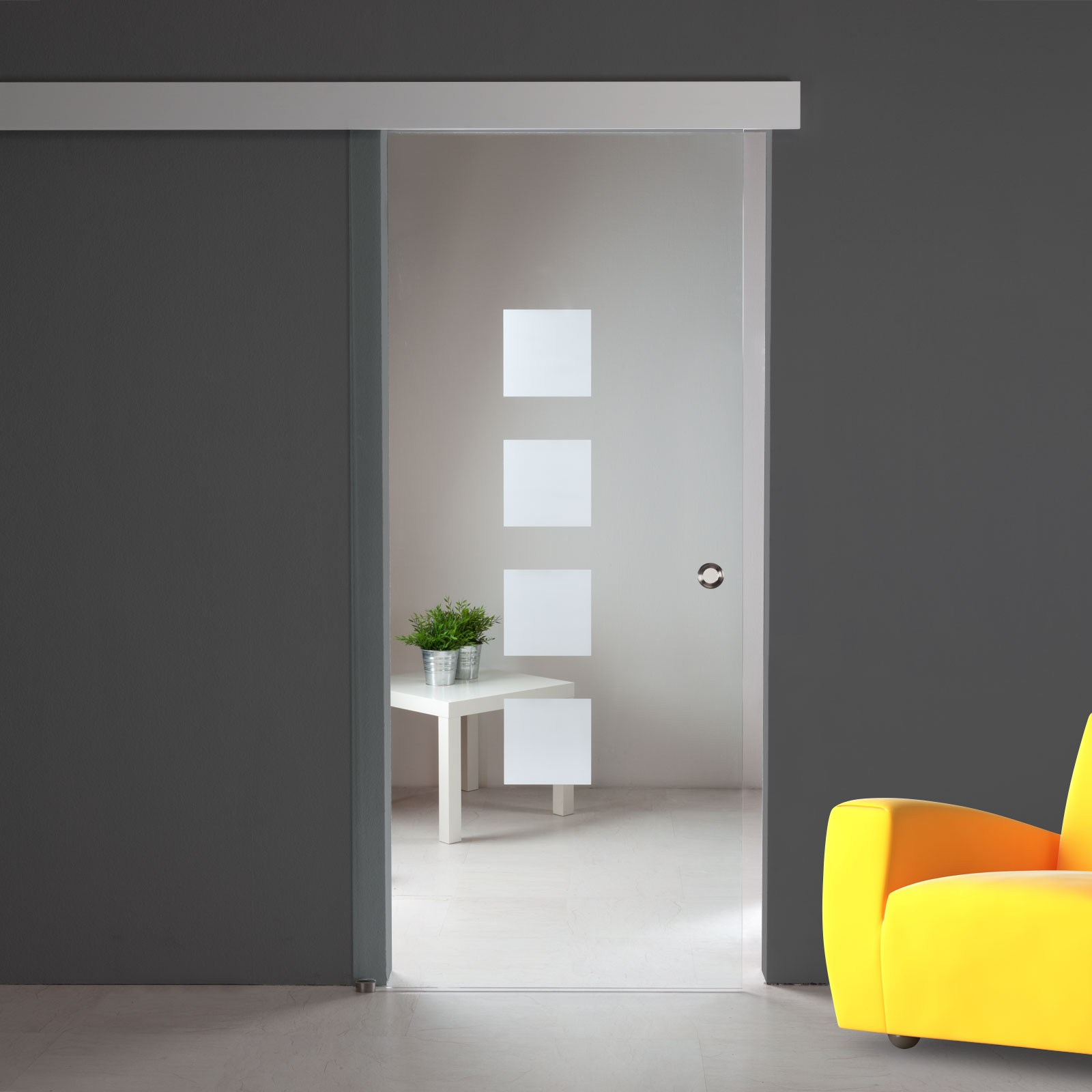 glasschiebet r sd721 f alu60 klarglas dekor griffmuschel edelstahl ebay. Black Bedroom Furniture Sets. Home Design Ideas