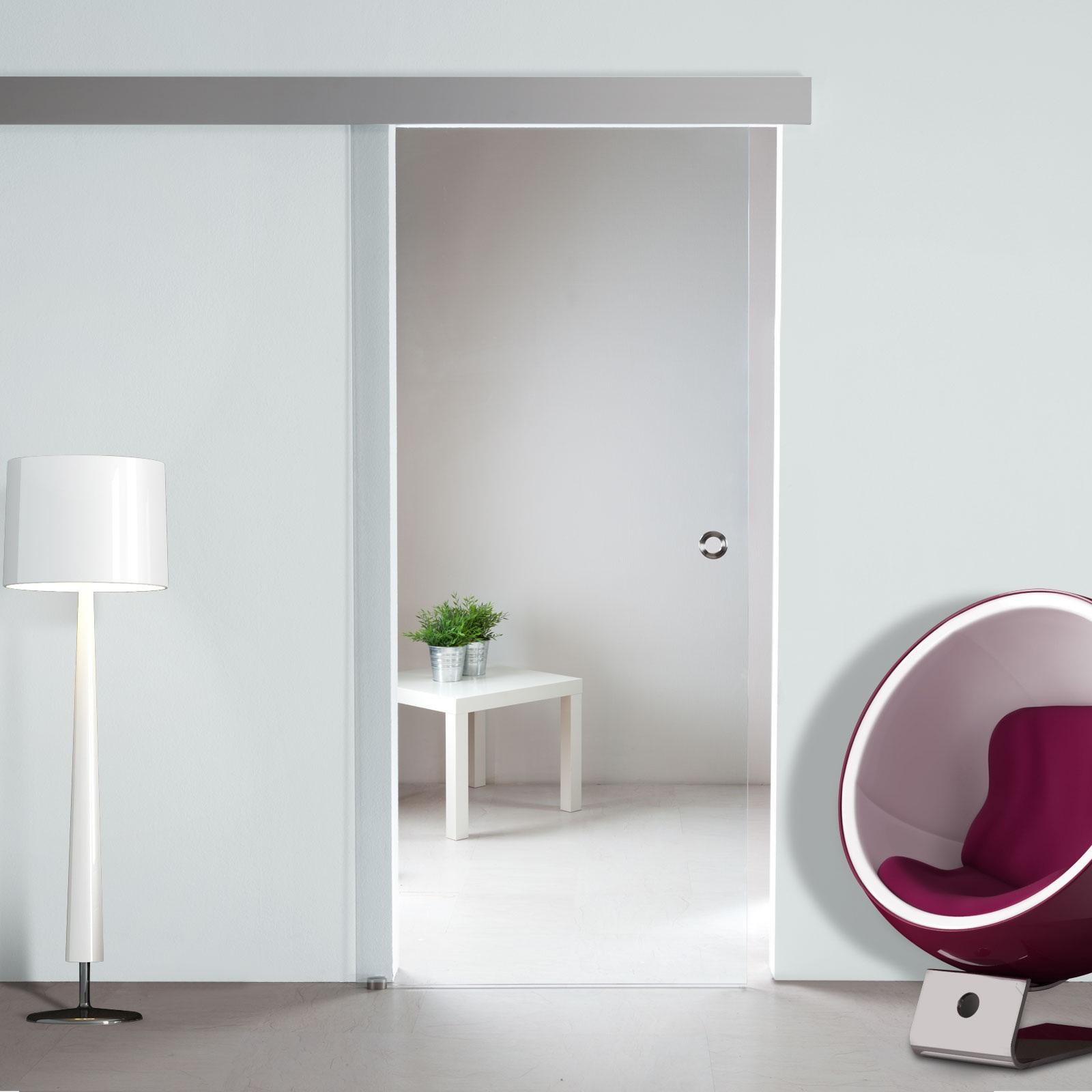 glasschiebet r sd722 klarglas mit griffmuschel edelstahl. Black Bedroom Furniture Sets. Home Design Ideas