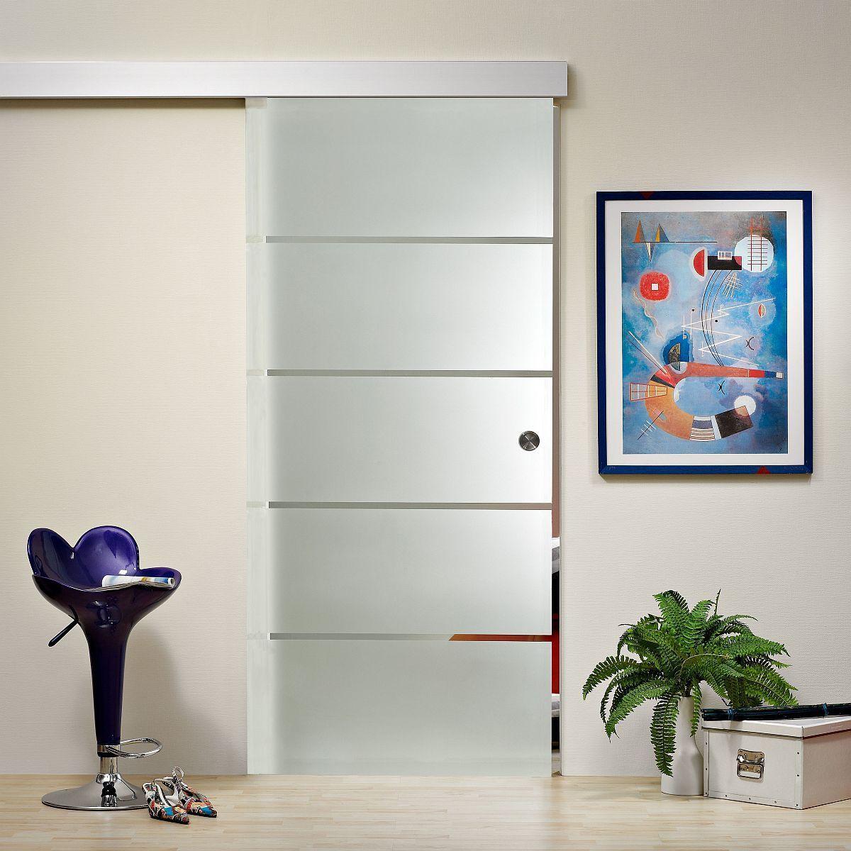 glasschiebet r schiebet r mit griffmuschel s784 ebay. Black Bedroom Furniture Sets. Home Design Ideas