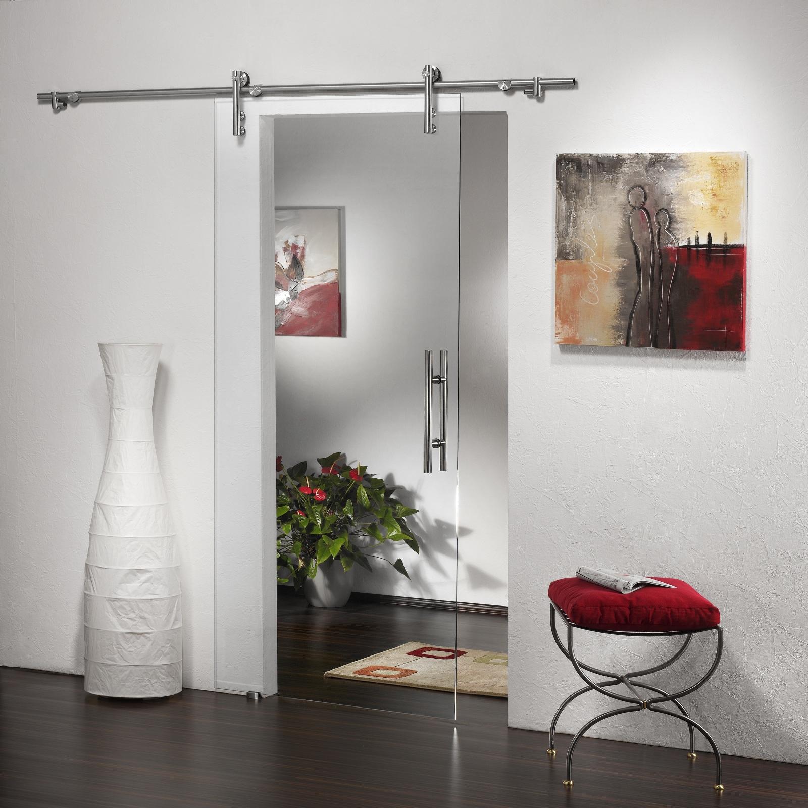 glasschiebet r sd752 v1000 zp klarglas griffstange edelstahl ebay. Black Bedroom Furniture Sets. Home Design Ideas