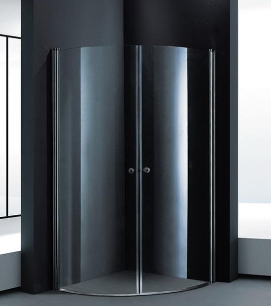 duschkabine duschabtrennung eckdusche echtglas 90x90cm. Black Bedroom Furniture Sets. Home Design Ideas