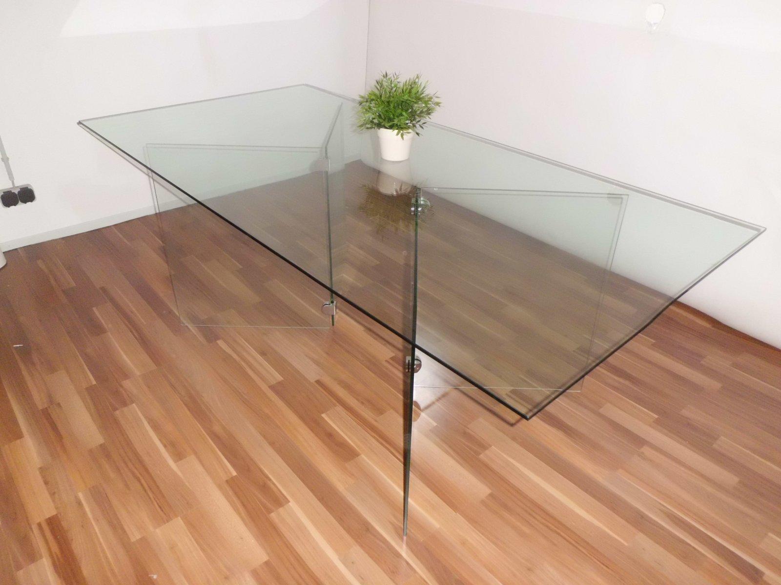 Glastisch gro 8 mm sicherheitsglas 100 x 200 x 73 cm ebay - Dekoration glastisch ...