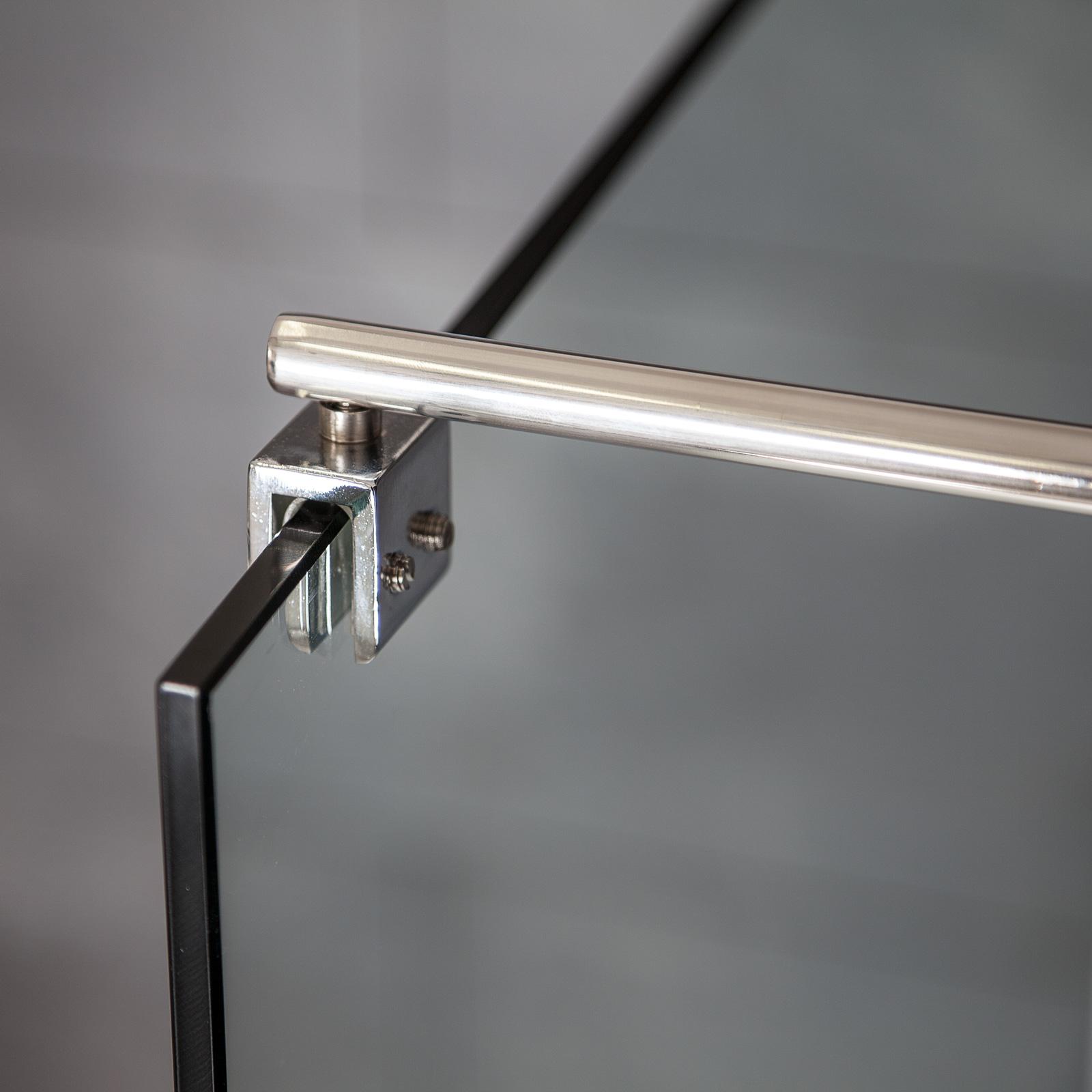 haltestange duschwand edelstahl verstellbar von 80 bis 120 cm einstiegsbreite ebay. Black Bedroom Furniture Sets. Home Design Ideas