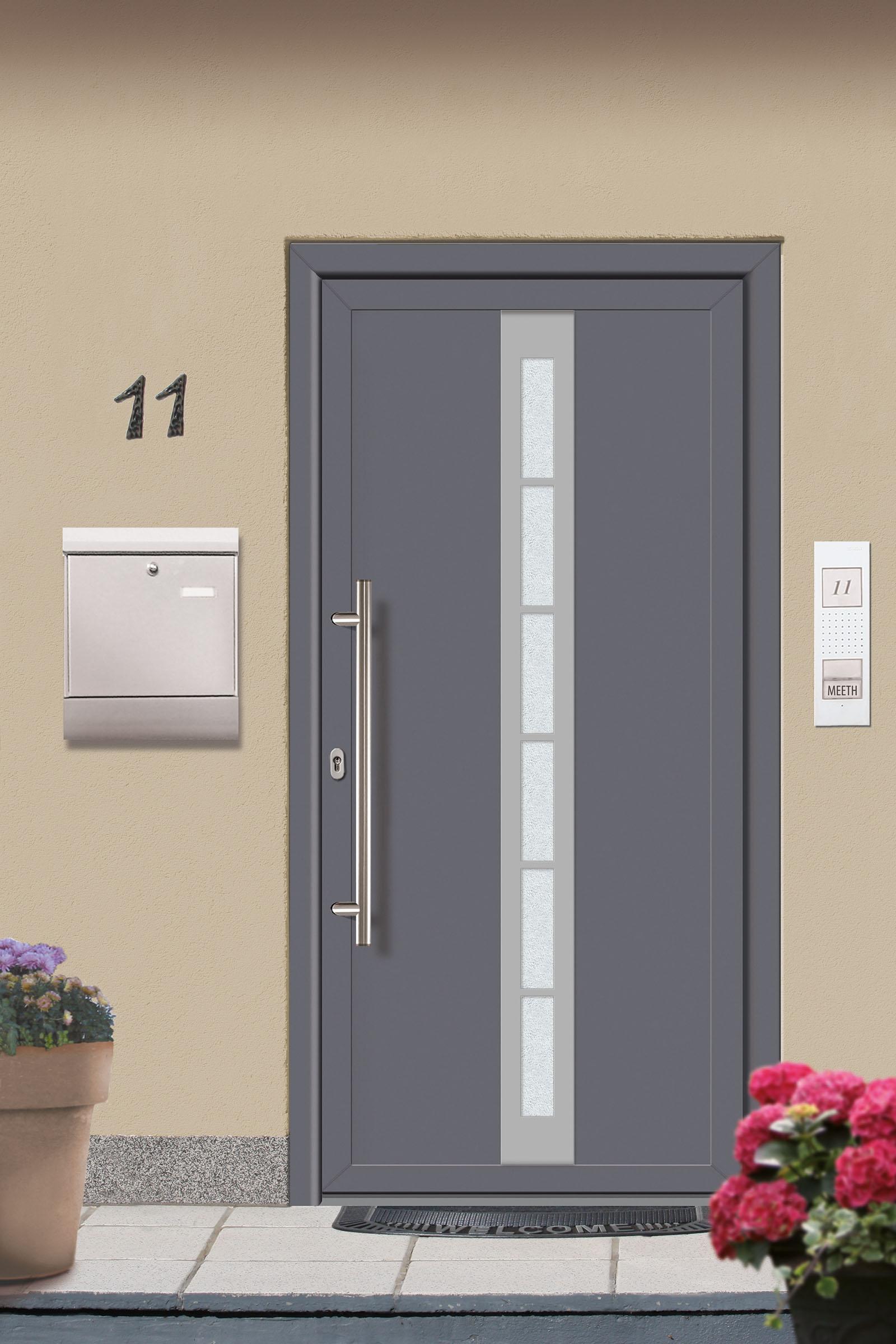 kunststoff haust r fdm 20 titan wei 980 x 2000 mm lichtausschnitt ebay. Black Bedroom Furniture Sets. Home Design Ideas