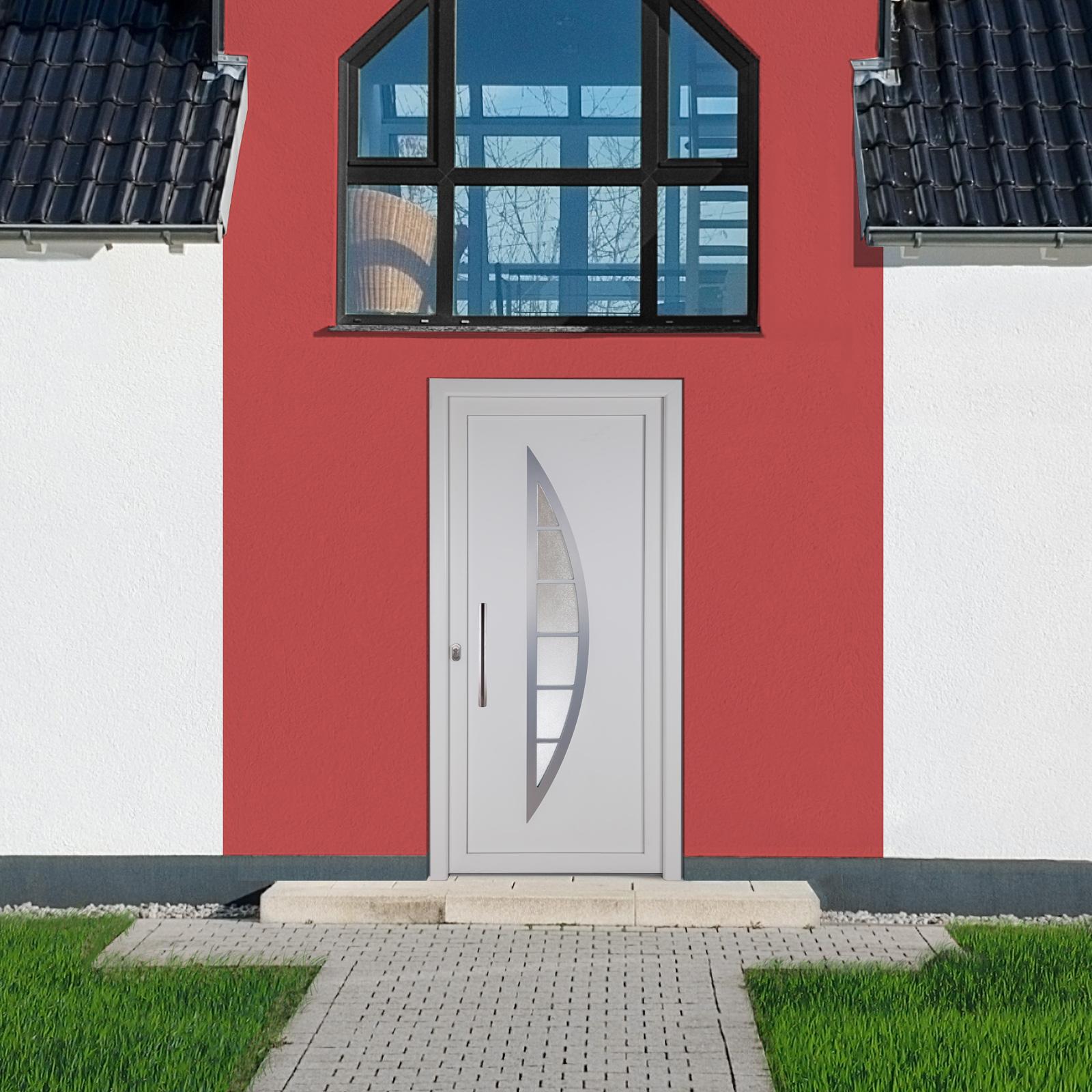 kunststoff haust r fdm 23 wei 980 x 2000 mm mit lichtausschnitt ebay. Black Bedroom Furniture Sets. Home Design Ideas
