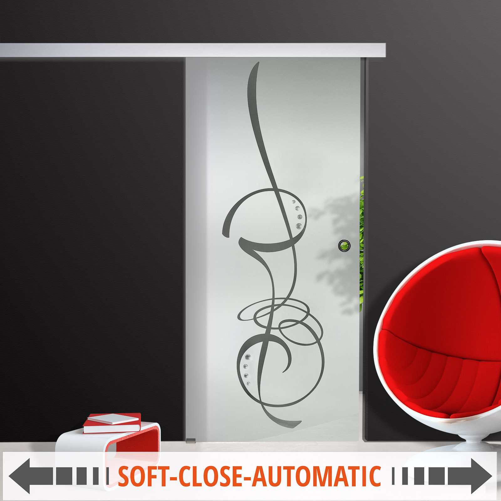 glasschiebet r sd638 f2 ag50 sc gm klarglas mattiert dekor klar schmucksteine ebay. Black Bedroom Furniture Sets. Home Design Ideas