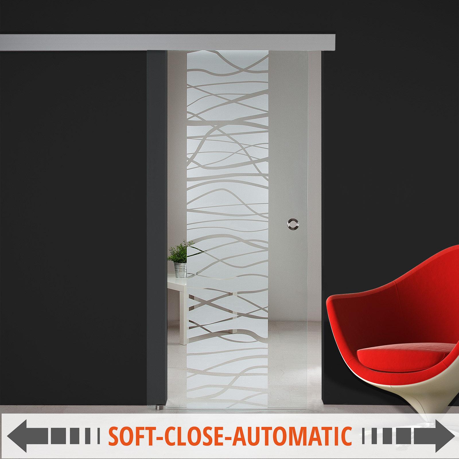 glasschiebet r sd641 f ag50 sc gm klarglas teilmattiert mit klaren wellen ebay. Black Bedroom Furniture Sets. Home Design Ideas