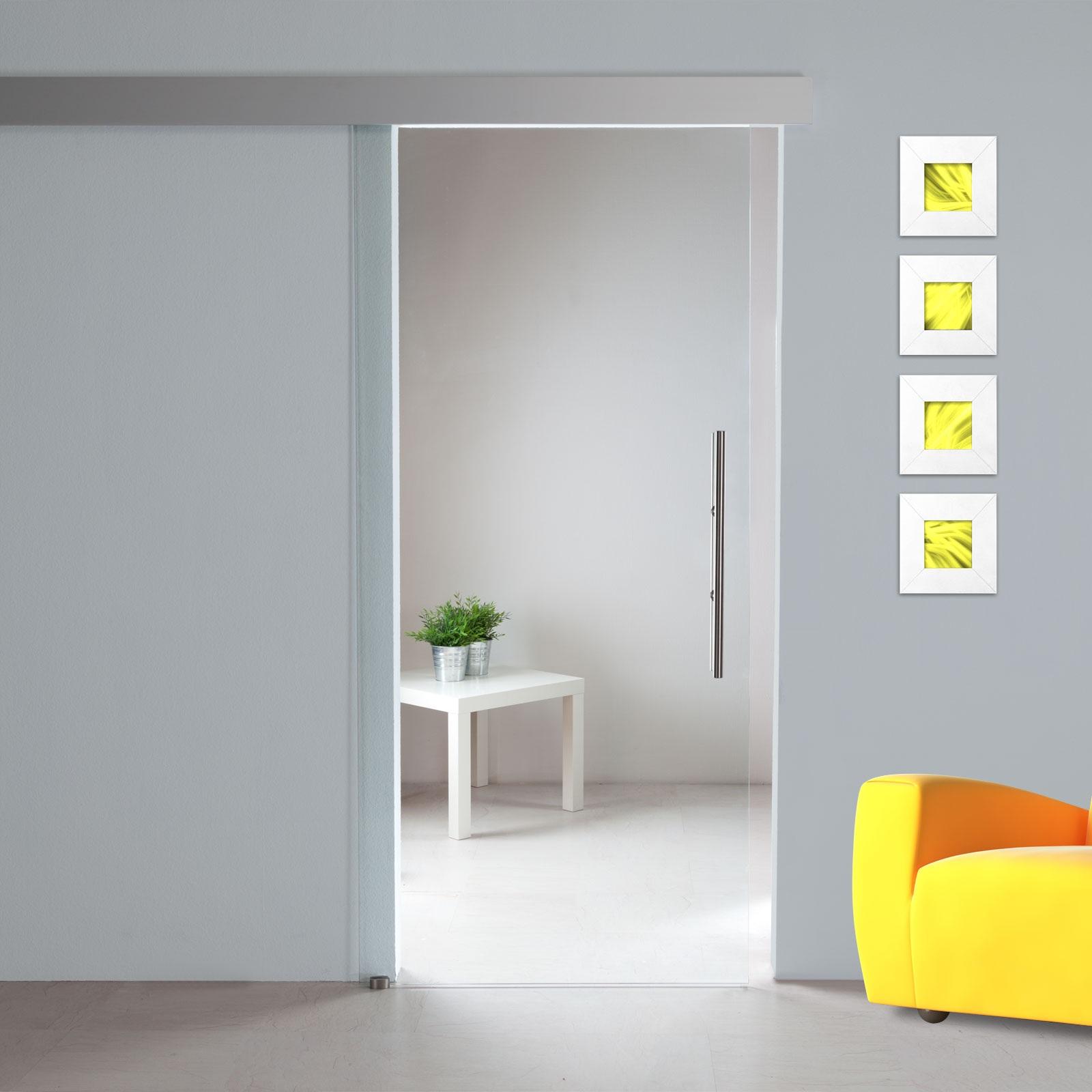schiebet r klarglas st707 extra hoch 900 x 2180 mm schiebesystem alu60 gs ebay. Black Bedroom Furniture Sets. Home Design Ideas
